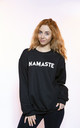 Black Jumper in Namaste Slogan by Top Threads