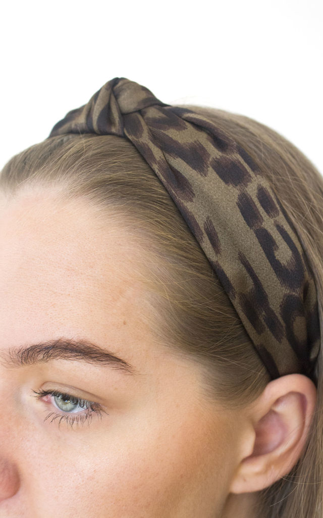 Patti Green Hair Headband in Animal Print by GIRL ALLIANCE