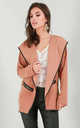 Sasha Jacket in Camel with Contrast Piping by Oops Fashion