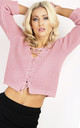 Vanessa Jumper in Pink Lace Up Crop by Oops Fashion