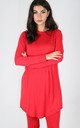 Chloe Oversized Long Sleeve Sweater Dress in Red by Oops Fashion