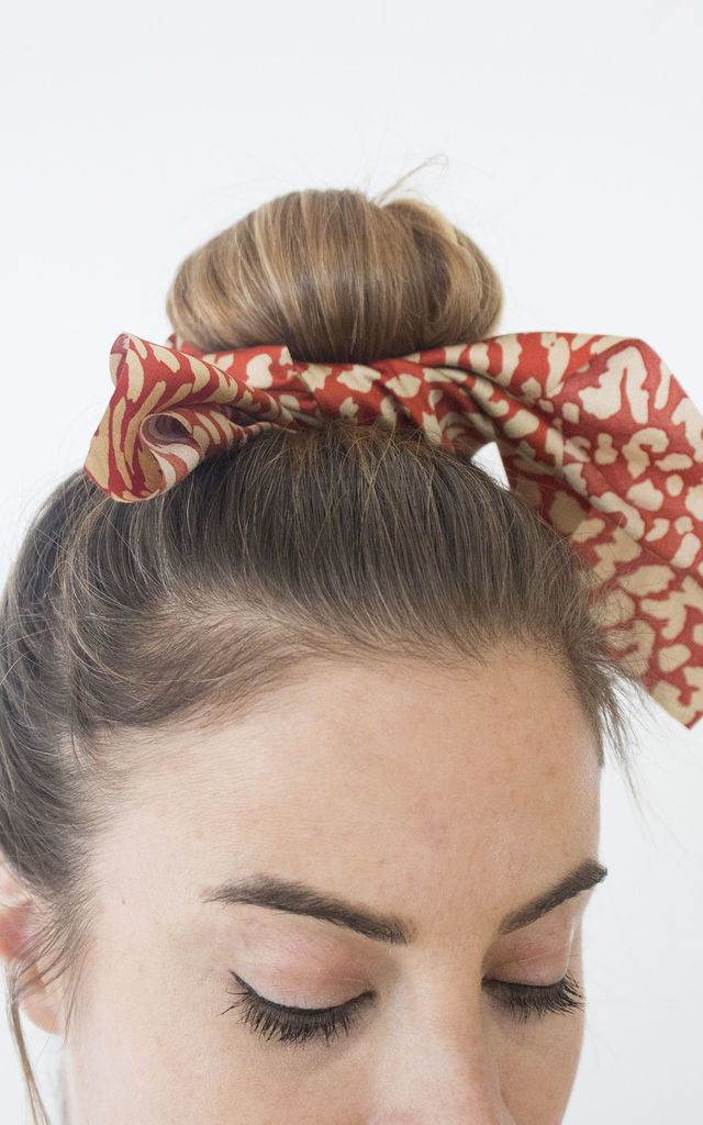 Virginia Hair Scarf Scrunchie in Animal by GIRL ALLIANCE