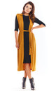 Long Vest Tied at Waist in Camel by AWAMA