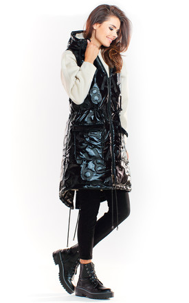 Black Padded Gilet Jacket by AWAMA