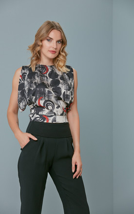 Sleeveless Blouse With Open Back And Tie Detail by Love By Joy Product photo