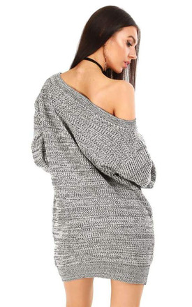 Grace Chunky Knit Jumper In Grey by Oops Fashion