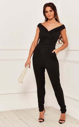 Off The Shoulder Jumpsuit In Black by Bella and Blue Product photo