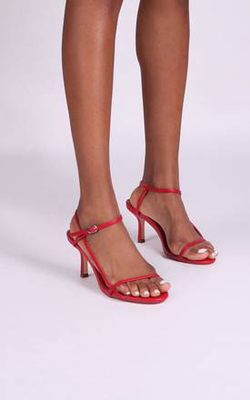 Liliya Strappy Low Heel in Red by Linzi