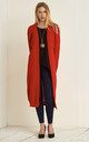 Jess Chunky Knitted Open Cardigan In Red by Oops Fashion