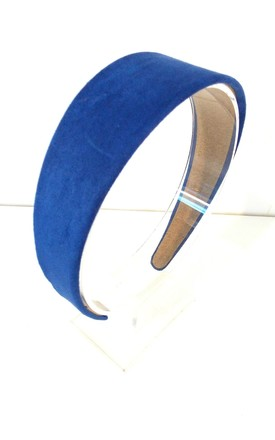 Royal Blue Faux Suede Hair Band by Olivia Divine Jewellery