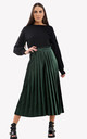 High Waisted Velvet Culottes in Green by Ivykove