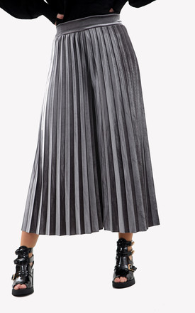 High Waisted Velvet Culottes in Silver by Ivykove