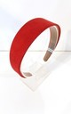 Red Faux Suede Hair Band by Olivia Divine Jewellery