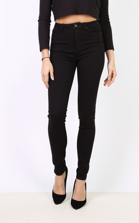 Toxik Jeans in Black High Waisted Stretch by Azzediari Clothing