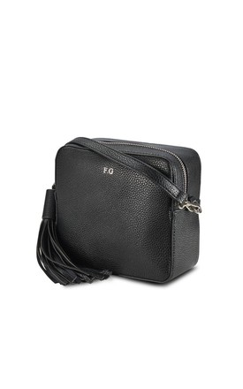 Black Cross Body Bag by ThreeSixFive Product photo