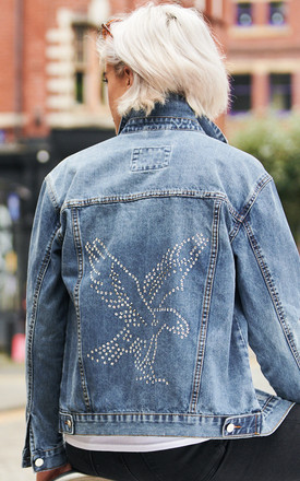 Swarovski® Eagle Denim Jacket by Disegno Mio Product photo
