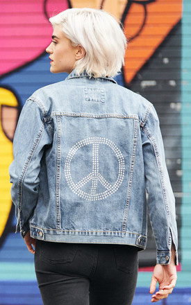 Swarovski® Peace Denim Jacket by Disegno Mio Product photo