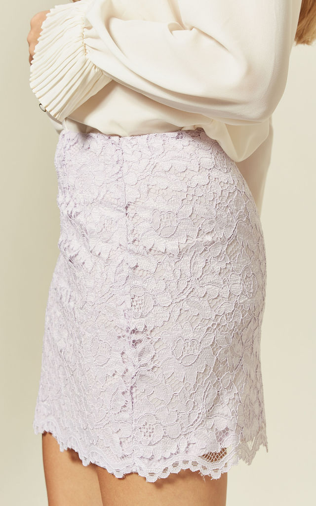 Mini Skirt in Lilac Lace by Mellie