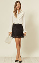 Mini Skirt in Black Lace by Mellie