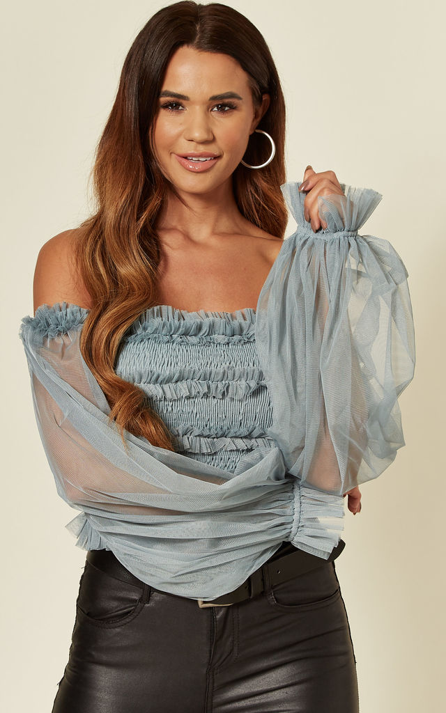 Rolf Off The Shoulder Top in Teal by Lace & Beads