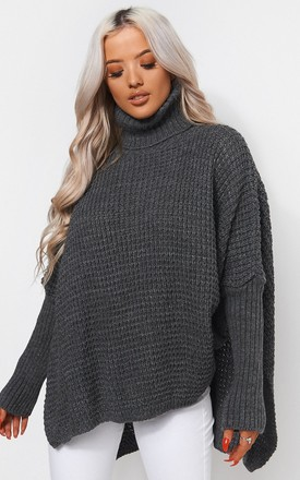 Oversized Grey Jumper by The Fashion Bible Product photo
