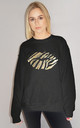 Gold Holographic Zebra Lip Jumper In Black by Sade Farrell
