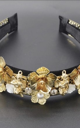 Gold Leaf Headband by Anne Louise Boutique Product photo