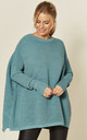 Paisie Ribbed Jumper in Teal by Paisie