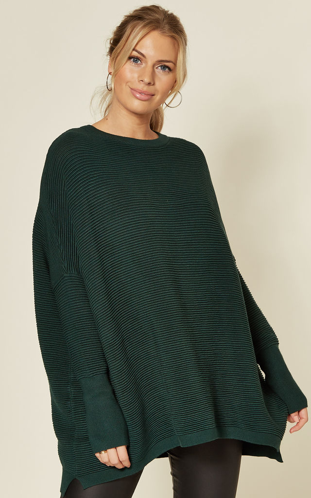 Paisie Ribbed Jumper in Dark Green by Paisie