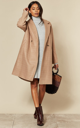 Oversized Coat In Beige by VILA Product photo