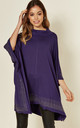 Oversized poncho top in Purple with sequin border by Malissa J Collection