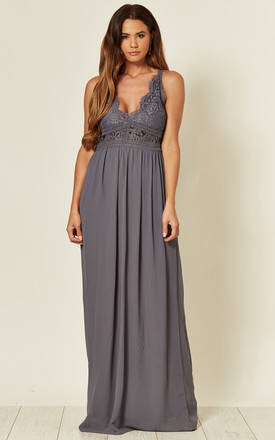 Hoshi Maxi Dress in Vintage Grey by TFNC