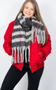 Black And Red Blanket Scarf by number 37