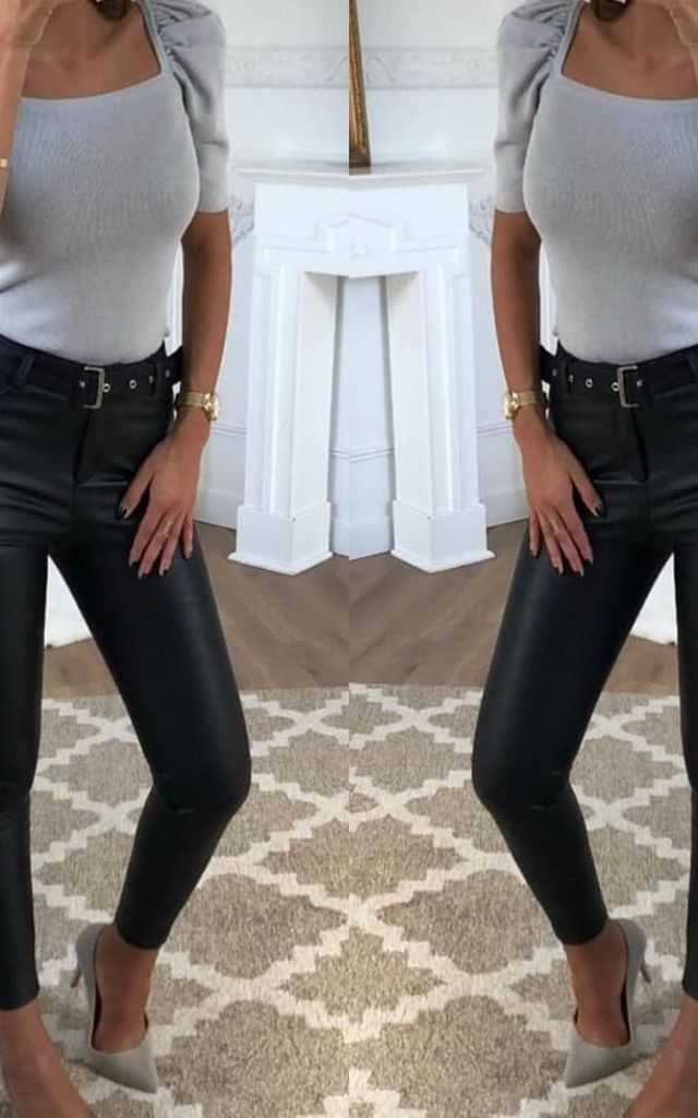 Queen Hearts Coated Jean in Black With Belt by Azzediari Clothing