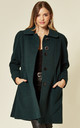 Lisa Green Wool & Cashmere Swing Coat by De La Creme Fashions