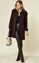 Lisa Wine Wool & Cashmere Swing Coat by De La Creme Fashions