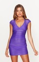 Ruched Beach Dress in Violet by Toria Tonia