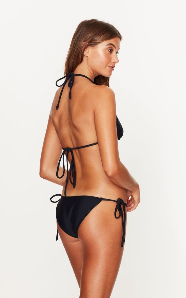 Triangle Tie Side Bottoms in Black by Toria Tonia