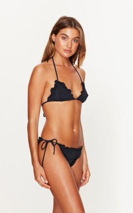 Ruffle Tie Side Bottoms in Black by Toria Tonia