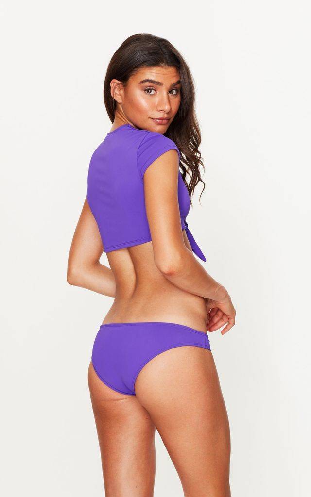 Tie Front Crop Top in Violet by Toria Tonia