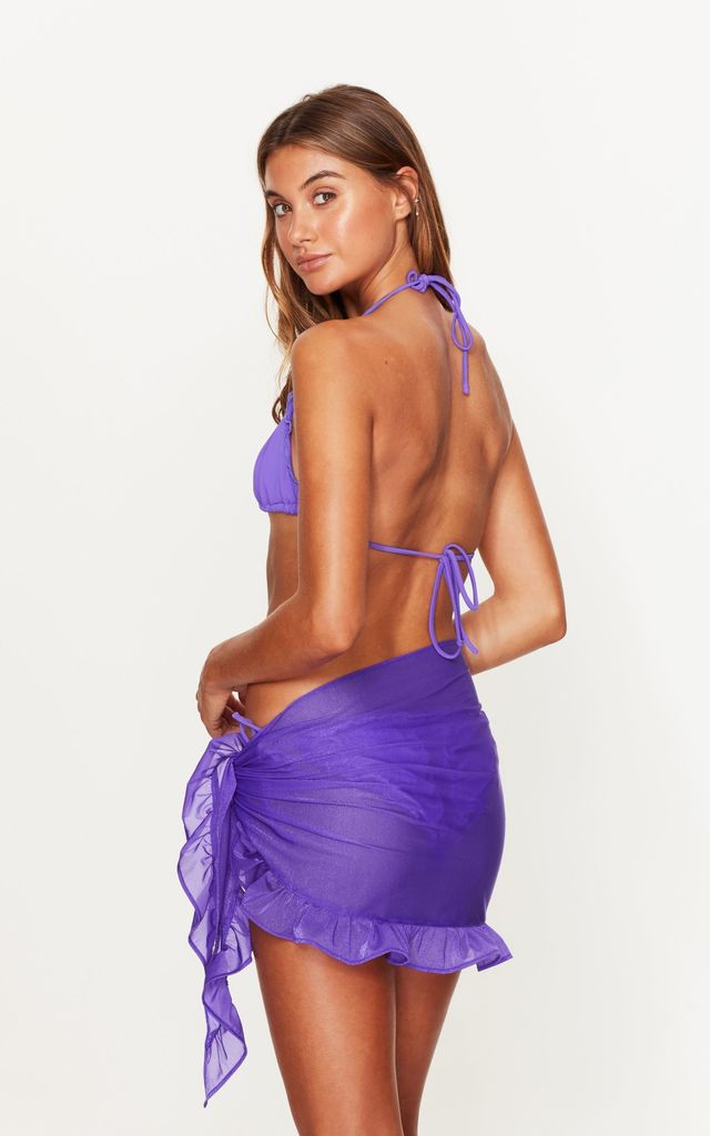 Ruffle Sarong in Violet by Toria Tonia