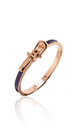RESORT NAVY BUCKLE BANGLE by Belle & Beau