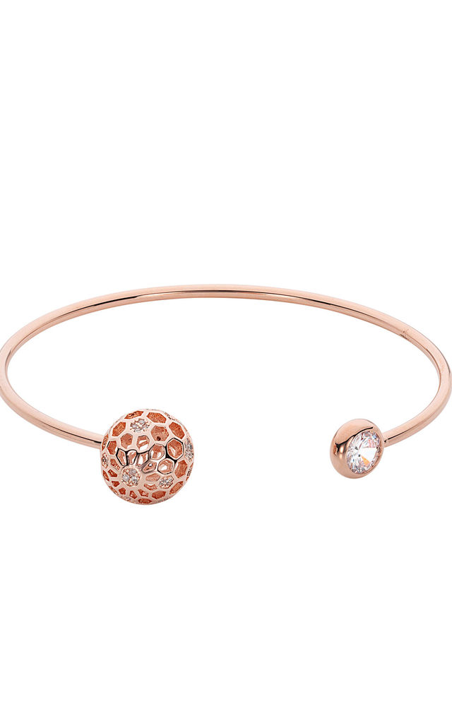 CAMEO HONEYCOMB CRYSTAL BANGLE by Belle & Beau