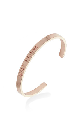 BEST FRIEND MESSAGE BANGLE by Belle & Beau