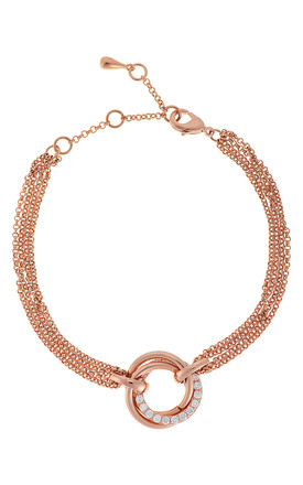 CAMEO ROSE GOLD CIRCLE TWIST BRACELET by Belle & Beau