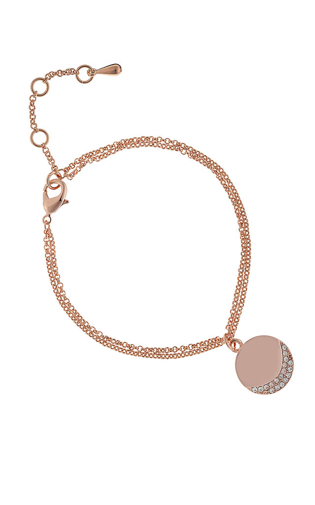 CAMEO CRESCENT BRACELET ROSE GOLD by Belle & Beau