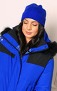Fisherman Ribbed Turn Up Beanie in Cobalt Blue by One Nation Clothing