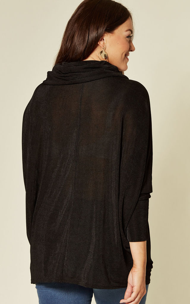 MILLY CURVE COWL NECK BATWING TOP BLACK by Blue Vanilla