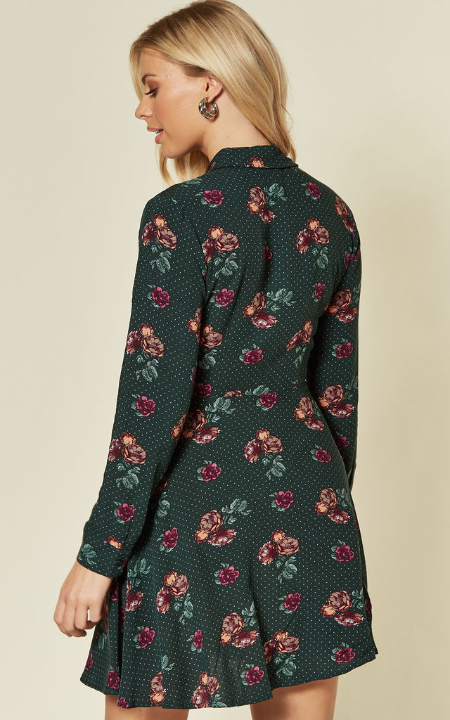 Tal Green Floral Print Mini Dress by Bright & Beautiful