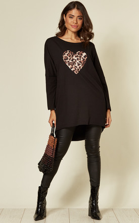 Joanna Black Batwing Animal Heart Top by Blue Vanilla Product photo